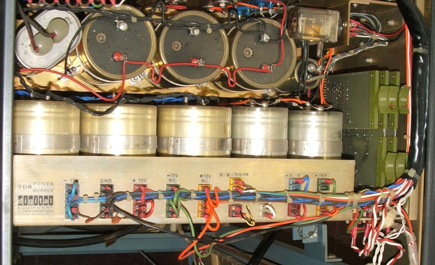 The U Of Iowas Dec Pdp 8 Restoration Power Supply Wiring Harness